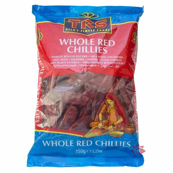 Chillies Red Whole 150G – TRS