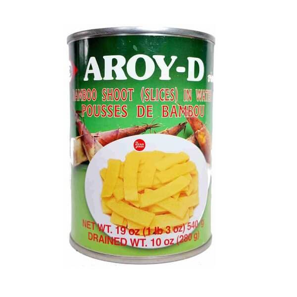 AROY-D BAMBOO SHOOT IN WATER (SLICES) 540G