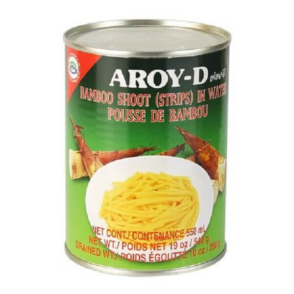 AROY-D BAMBOO SHOOT IN WATER (STRIPS) 540ML