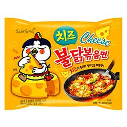 Buldak Noodle Hot Chicken Cheese 140G – Samyung (yellow)