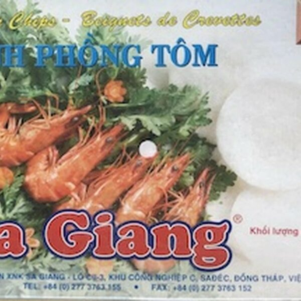 Sa Giang Shrimp Chips Uncooked.