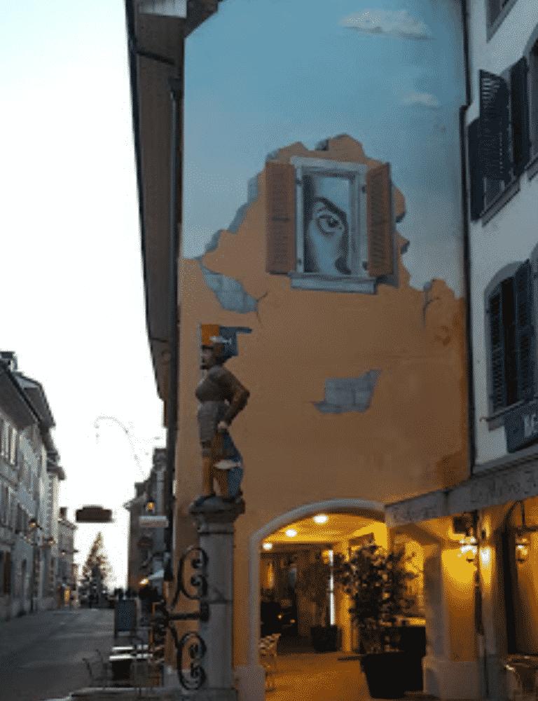 Asia Market Nyon - Rue de Rive Nyon - Near by Fountain and Building