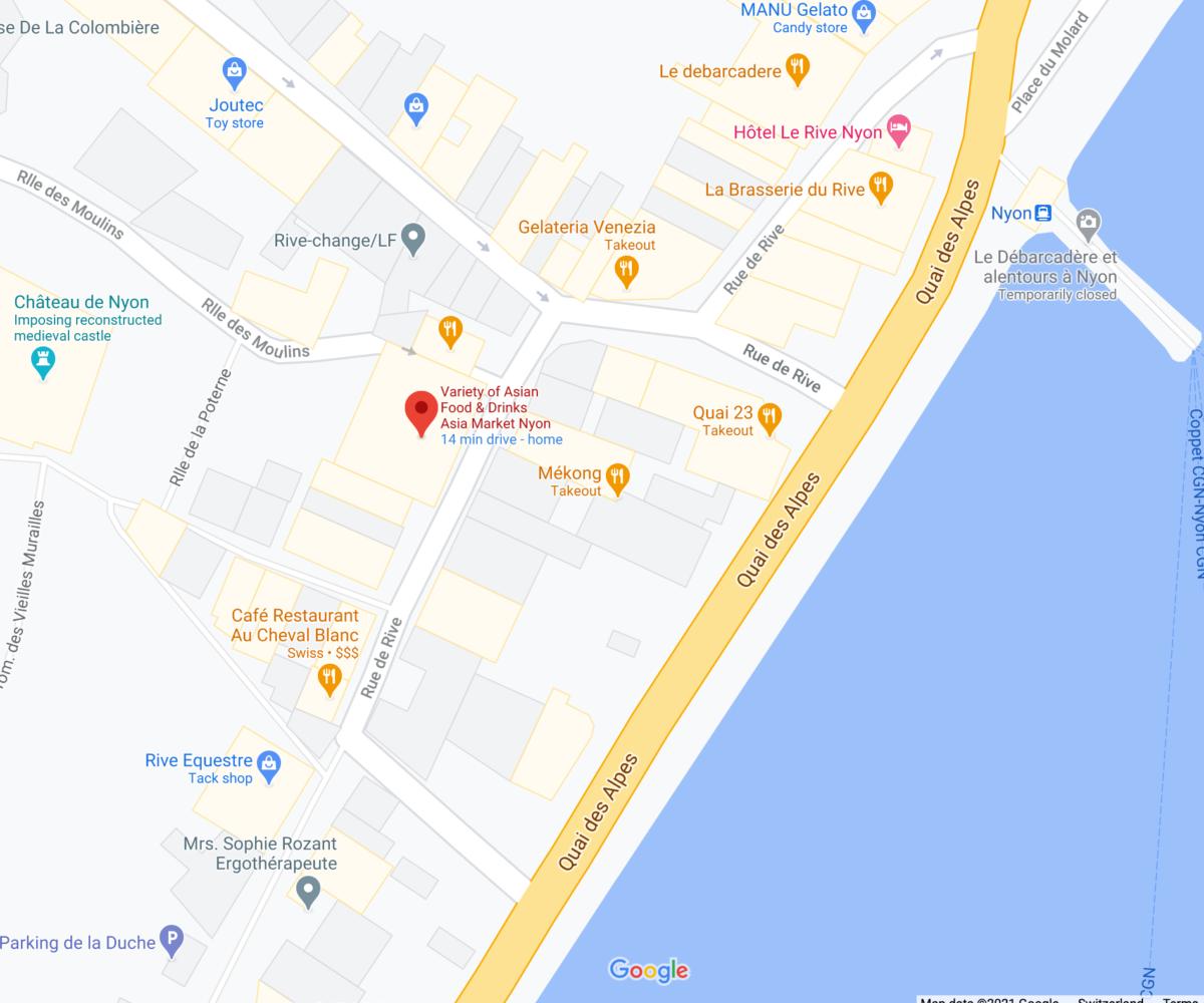 Location of Asia Market Nyon on Google map