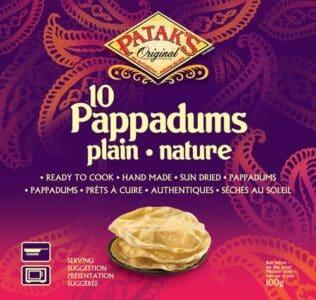 Papadam Plain 100gm - Patak's