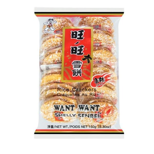 Want Want Hot n spicy rice crackers 150g