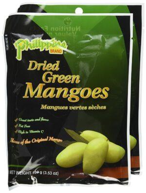 Dried green mangoes