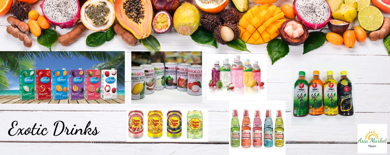 Exotic Drinks at Asia Market Nyon
